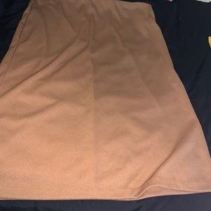 Caramel Colour Pencil skirt